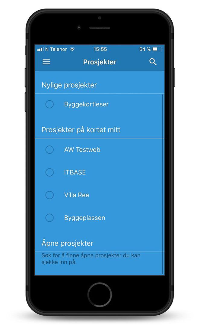 ChkBox app på mobil