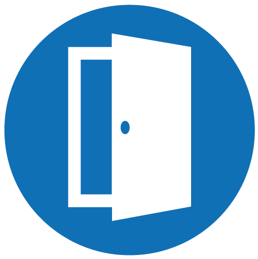 Ikon av en dør